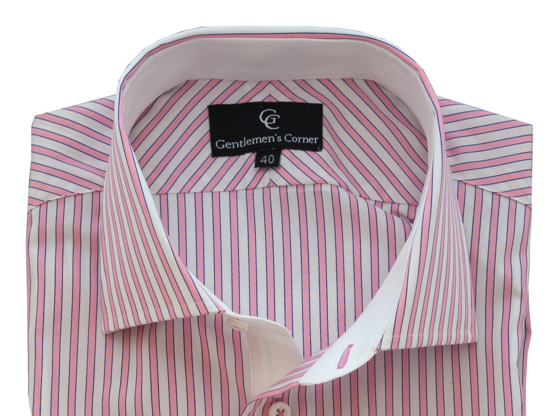 Lawrence Pink Stripe Shirt - Collar