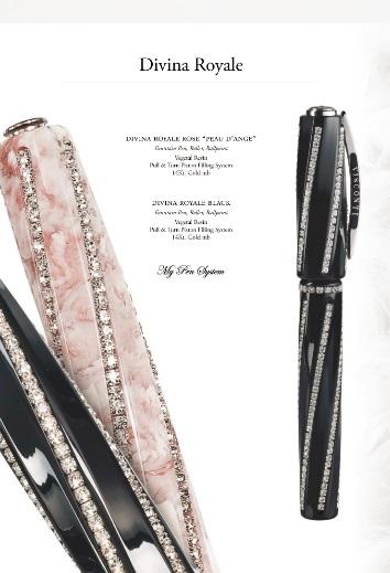 Visconti divina royale black fountain pen gifts writing for Sconti divani