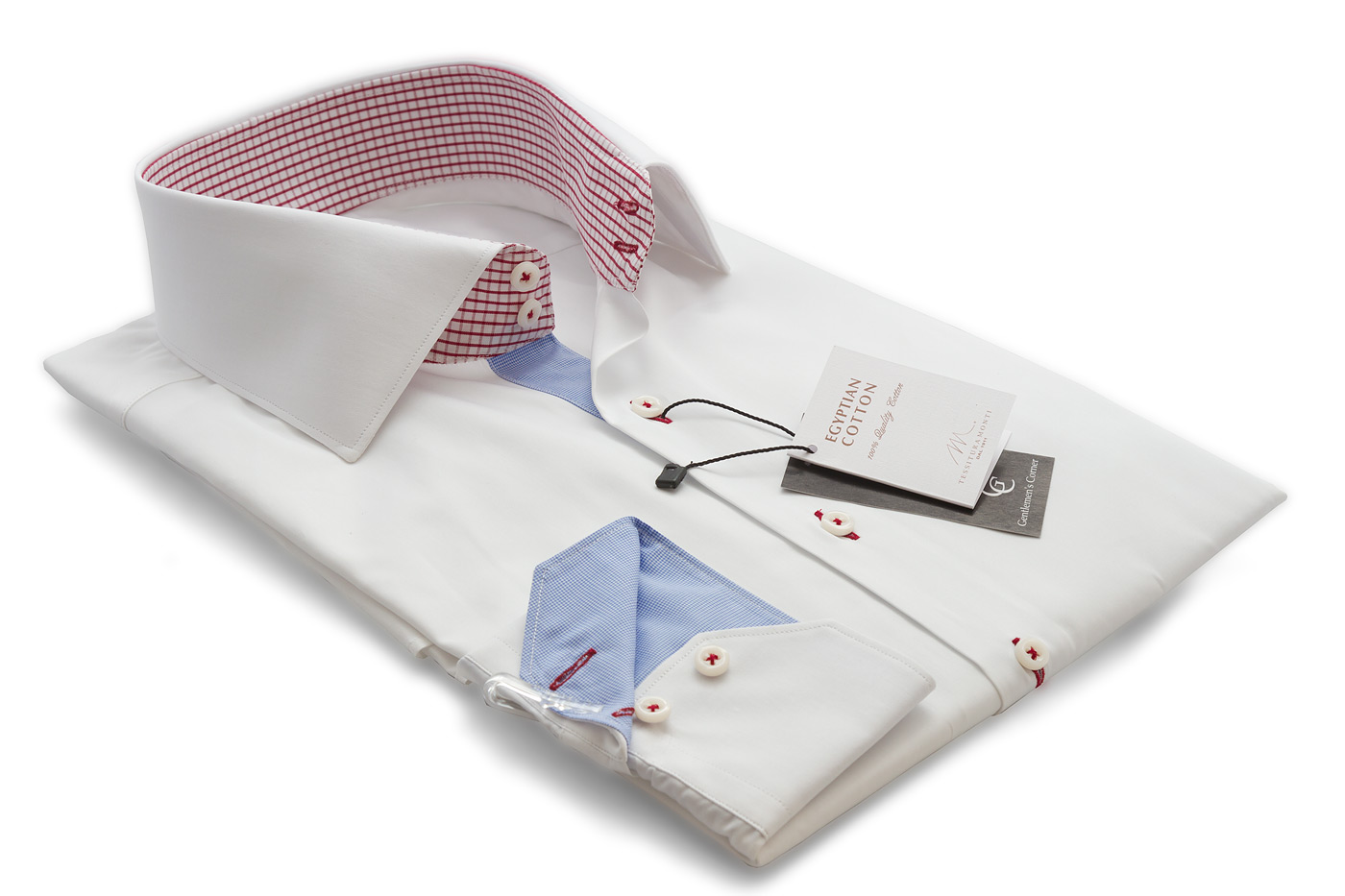 Roma White Shirt - Button Cuff