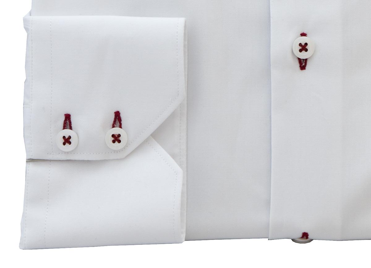 Aston White Shirt - Button Cuff