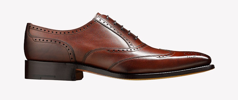 Pantofi Barker Johnny - Dark Brown Calf