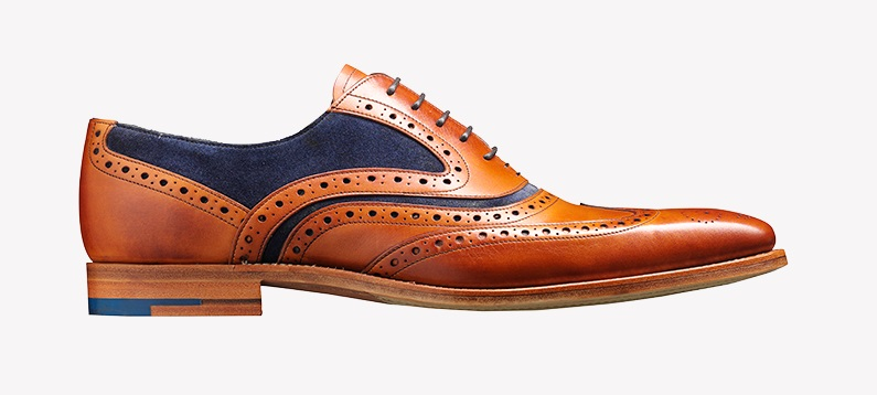 Barker McClean Shoes - Cedar Calf/Blue Suede