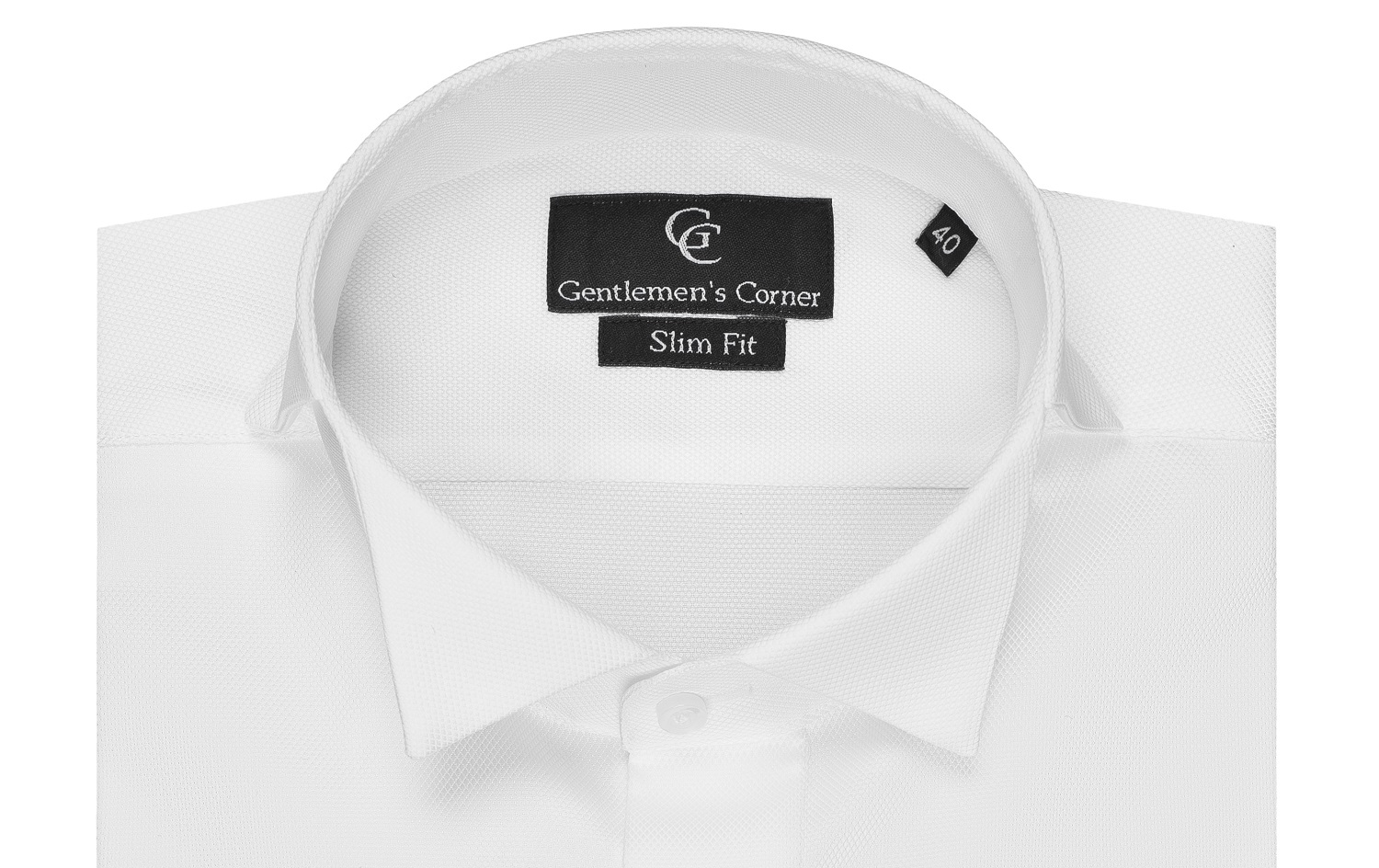 Cooper White Dress Shirt - Wing Collar