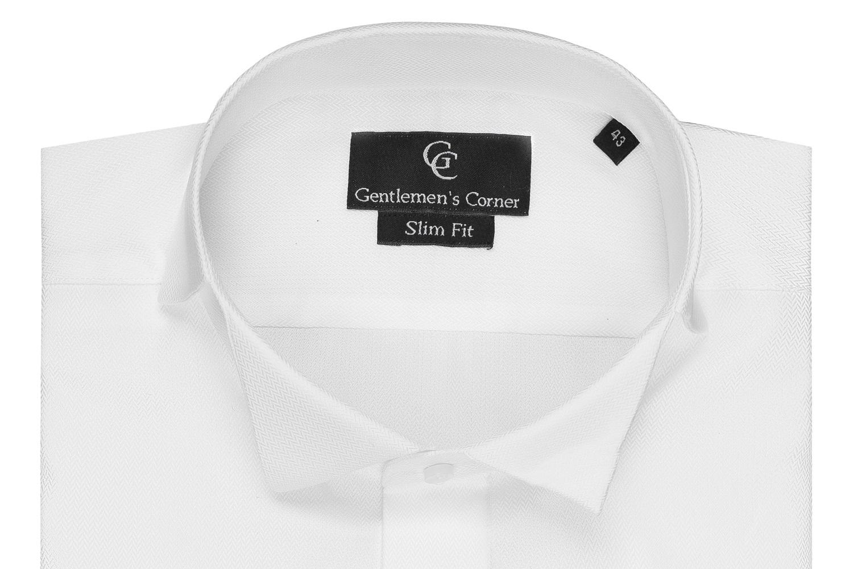 Bradley White Dress Shirt - Wing Collar