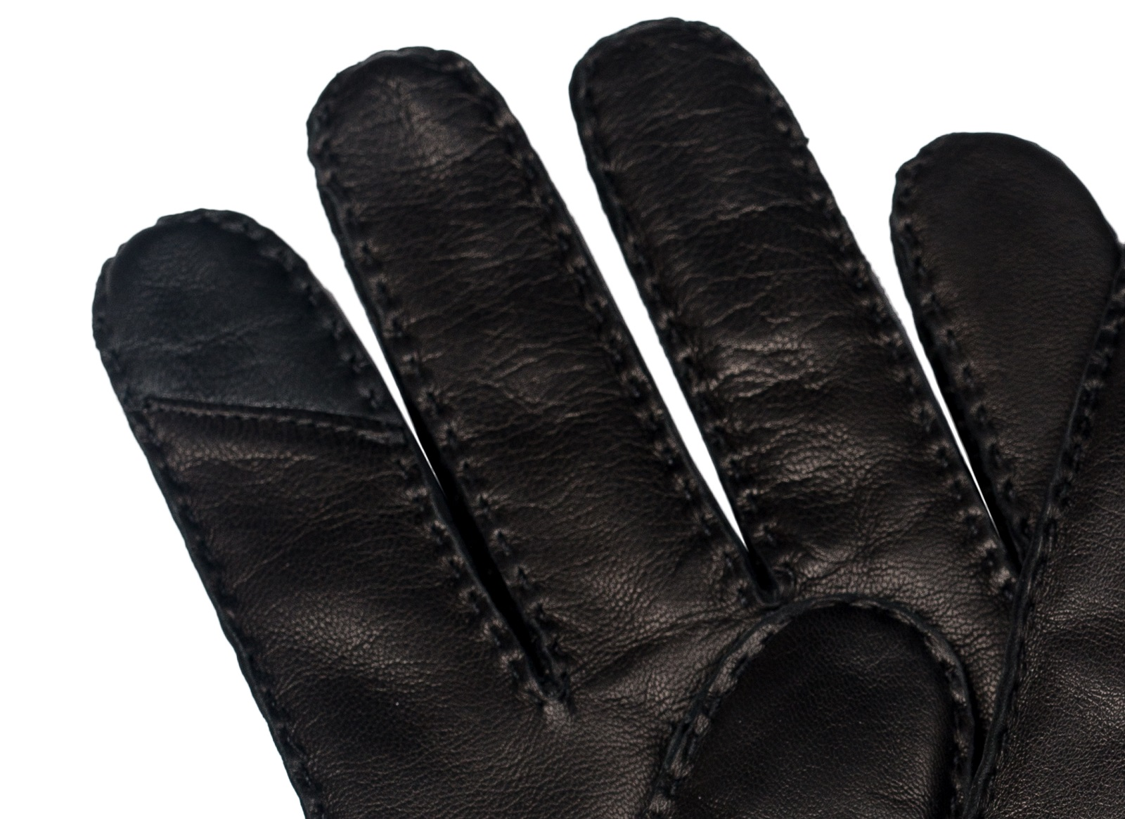 Gentlemen`s Corner Hairsheep Leather Gloves - Cashmere Lining