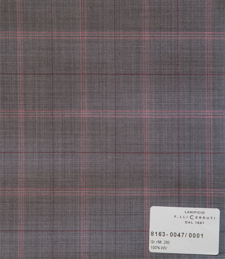 Nobility 150`s - grey pink checks