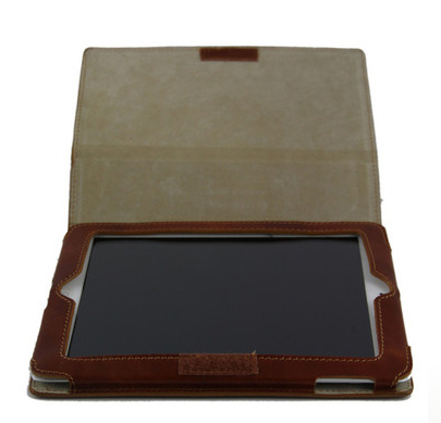 Leather iPad2 Case - open 2