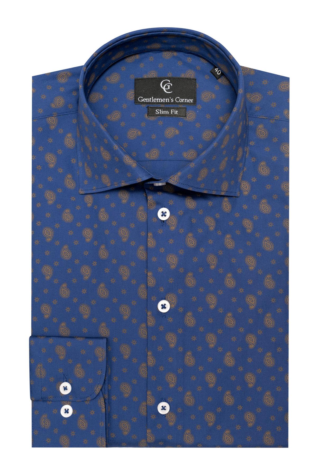 Camasa bleumarin Paisley