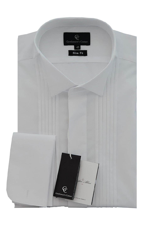 Camasa alba pentru papion Stuart - Slim Fit