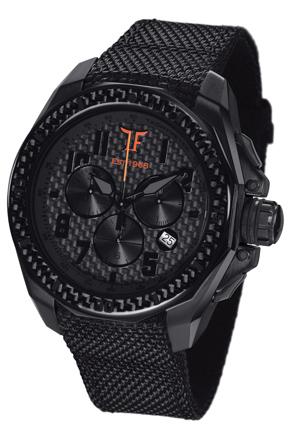 Ceas TF Est. Quartz Black PVD - Orange