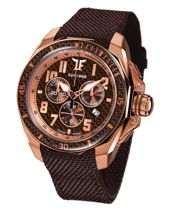 Ceas TF Est. Quartz Rose Gold - Chocolate