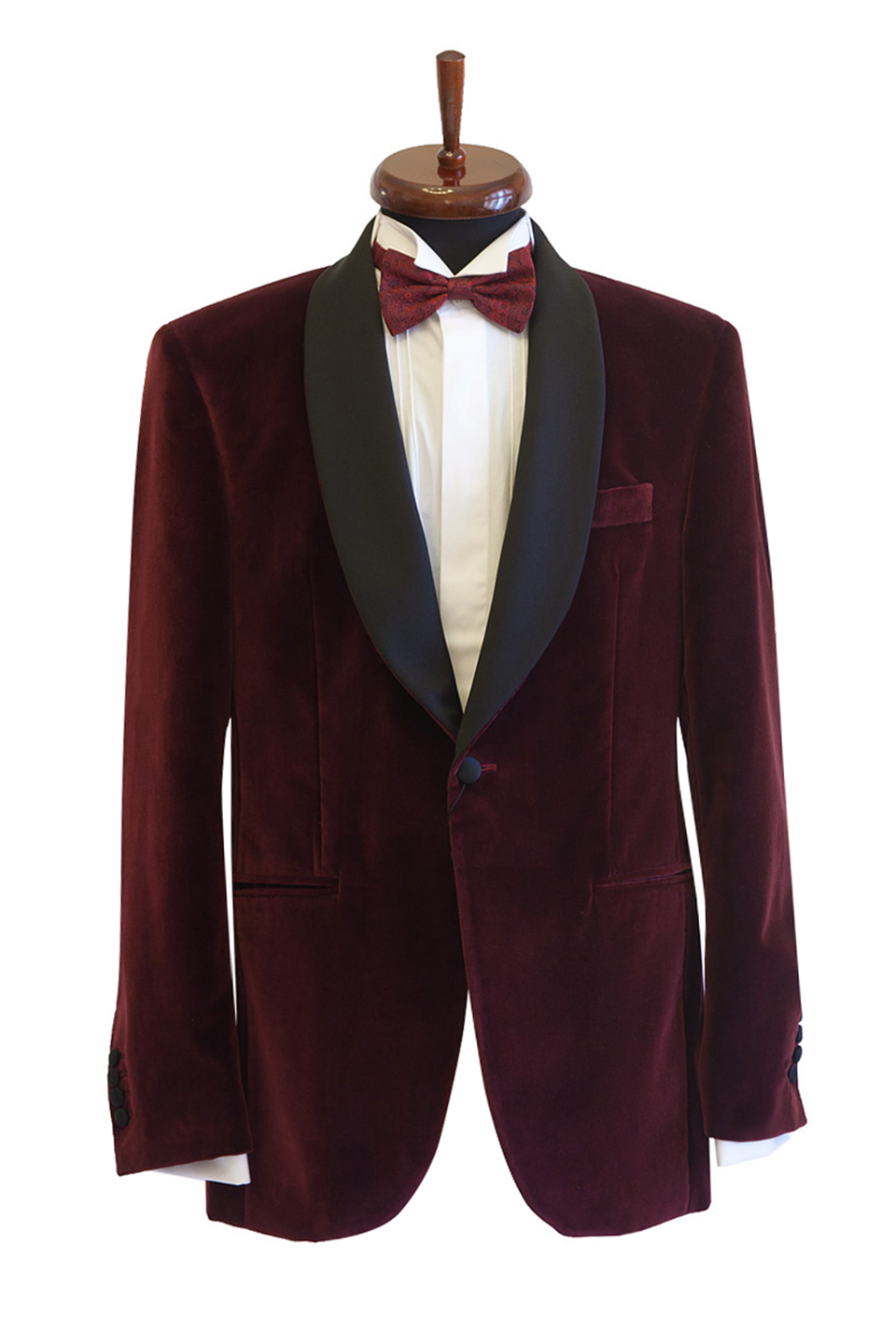 Sacou smoking catifea Slim Fit Gentlemen`s Corner - Bordo - NOU!