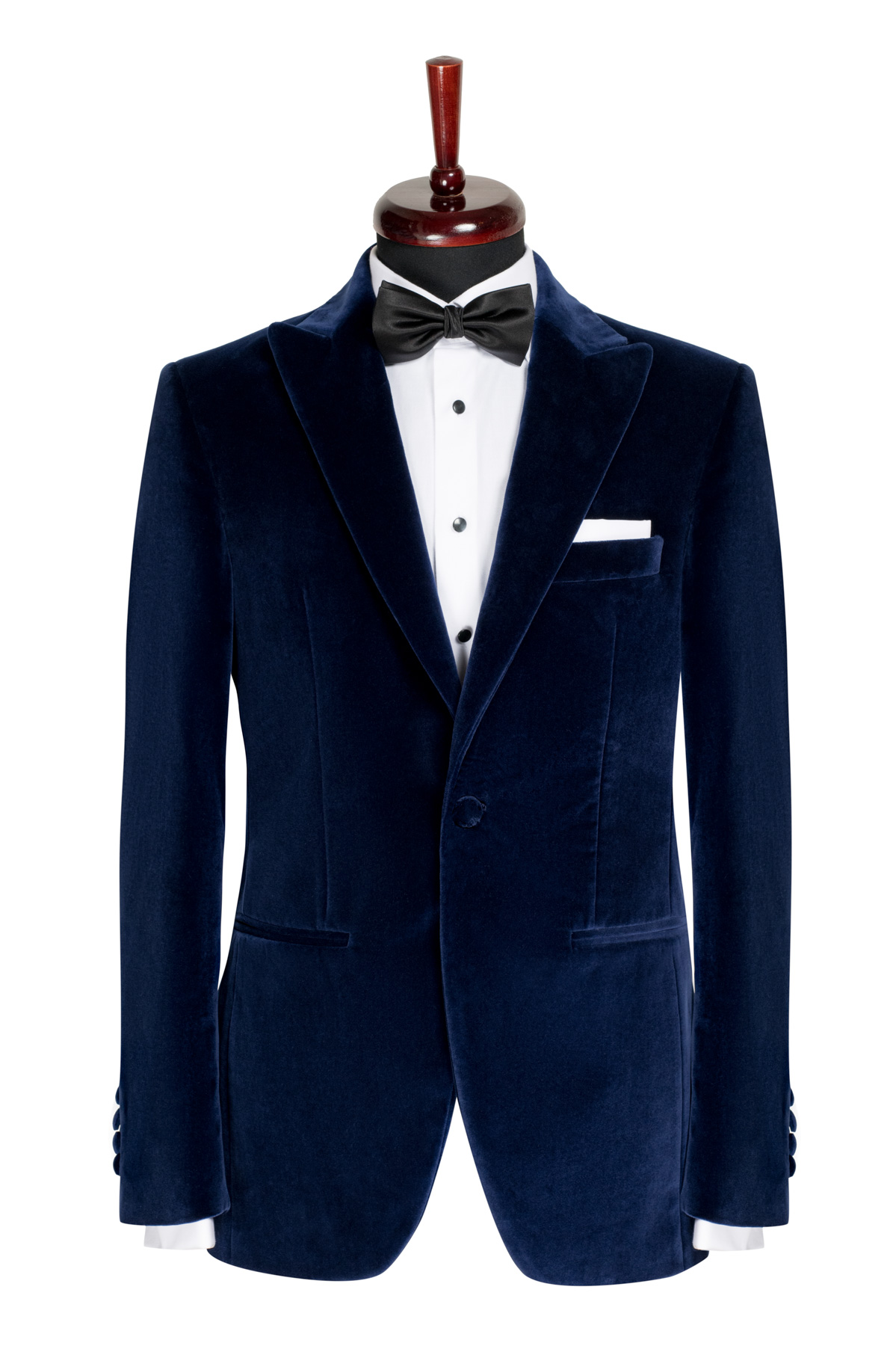 Sacou Smoking catifea Slim Fit Gentlemen`s Corner - Negru - NOU!