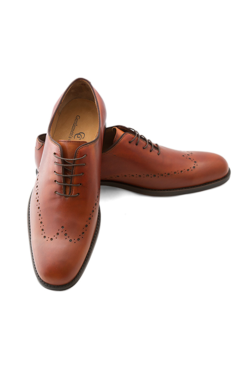 Gentlemens Corner One Piece Leather Shoes Chester Suits