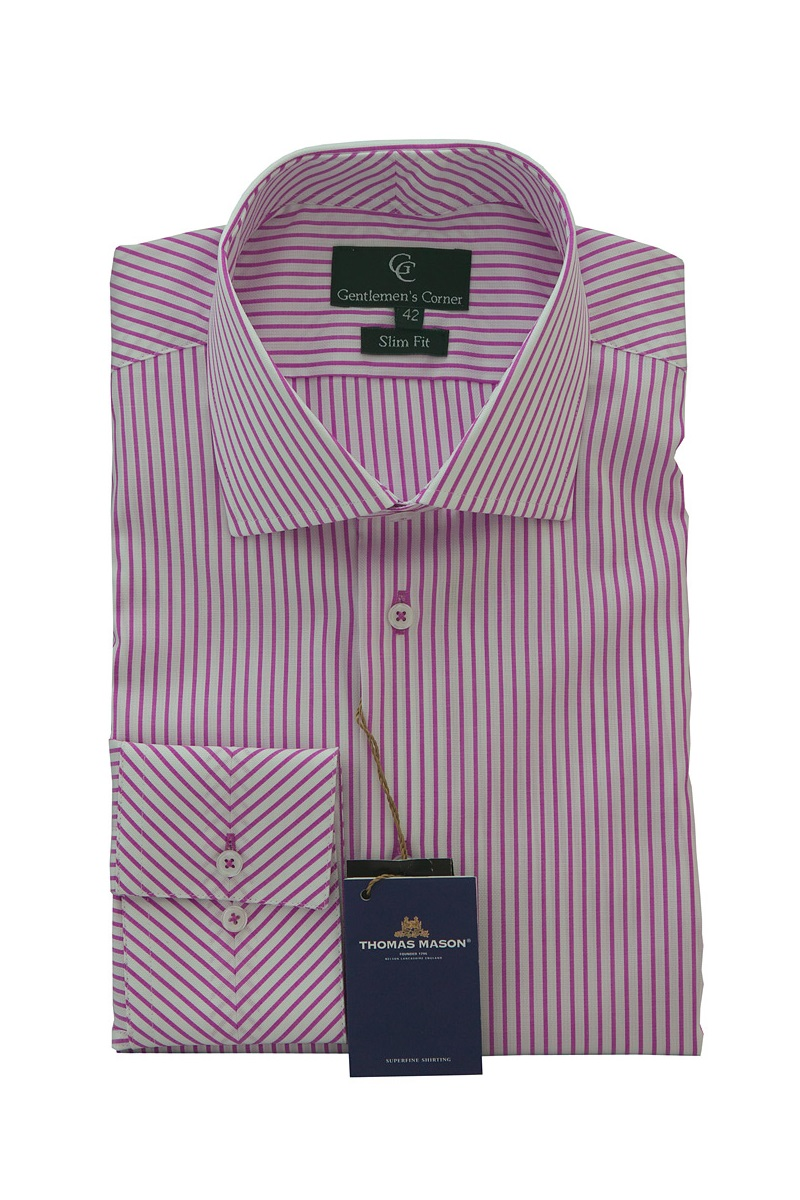 Mens Pink Shirt With White Collar And Cuffs Bcd Tofu House