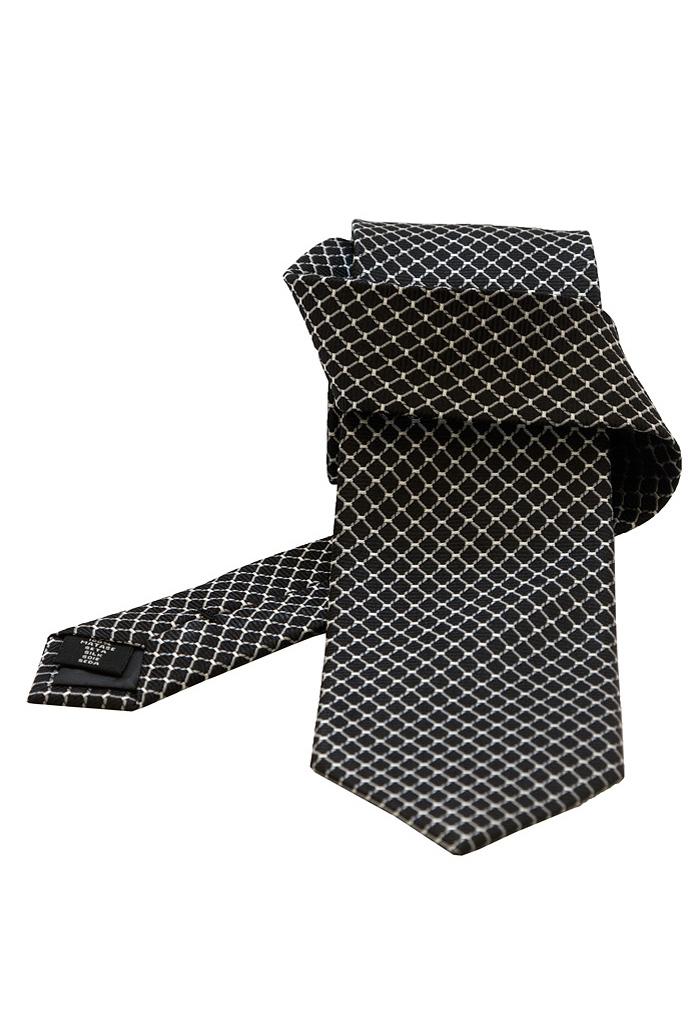 gentlemen s corner pattern black silk tie ties