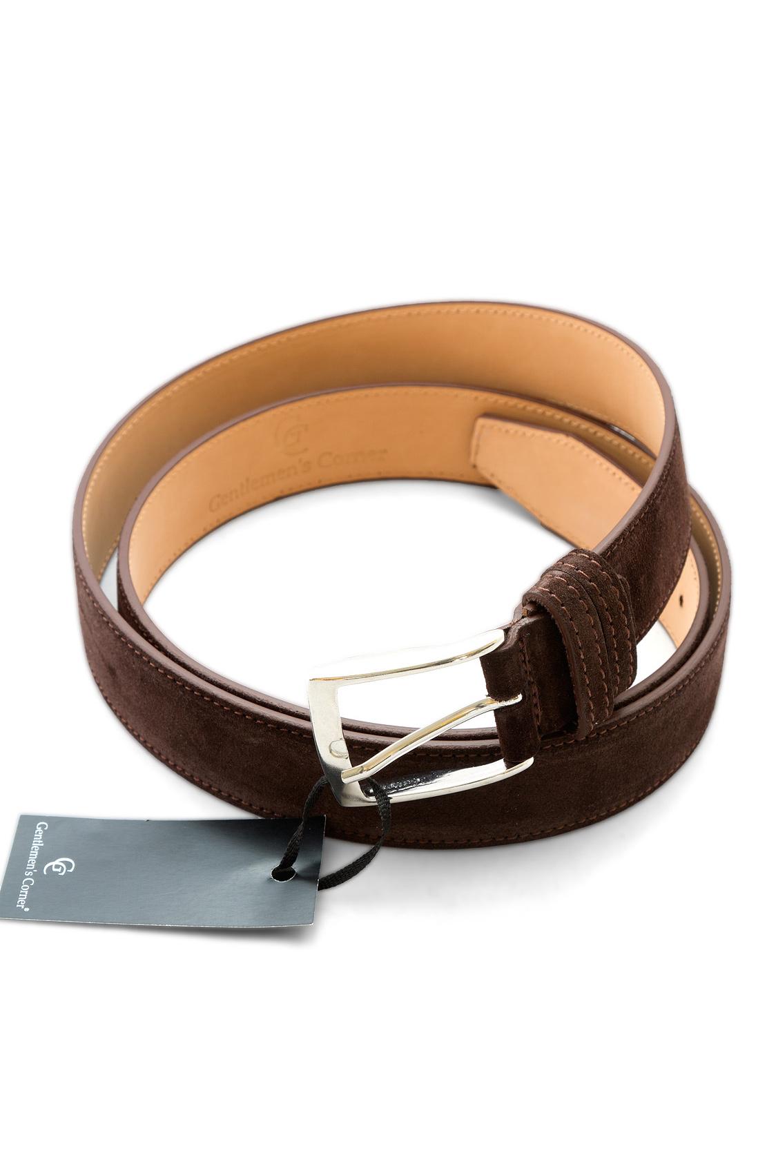 gentlemen s corner brown suede leather belt