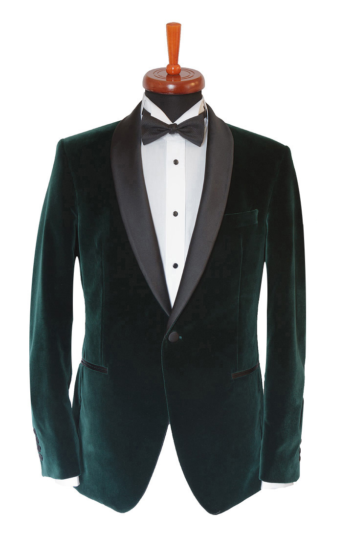 Gentlemen`s Corner Green Velvet Dinner Jacket, Formal Wear ...