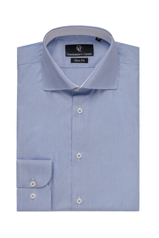 Camasa cu dungi albastre - contraste albe Dixon