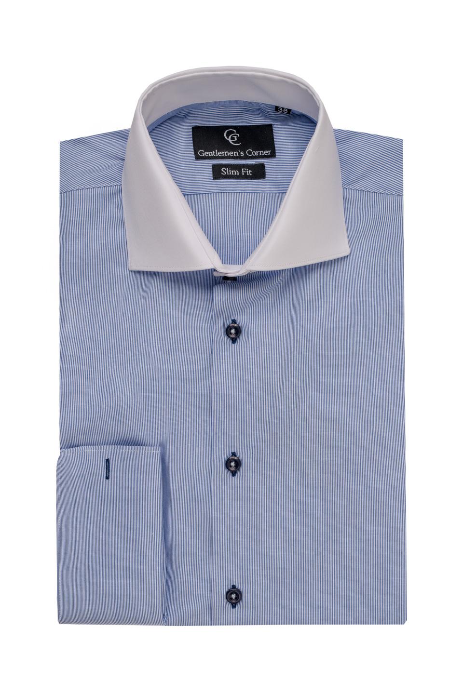 Camasa cu dungi albastre pentru butoni - Dustin
