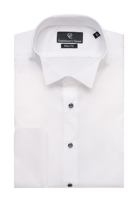 Naxos white dress shirt black buttons formal wear for Tuxedo shirt black buttons