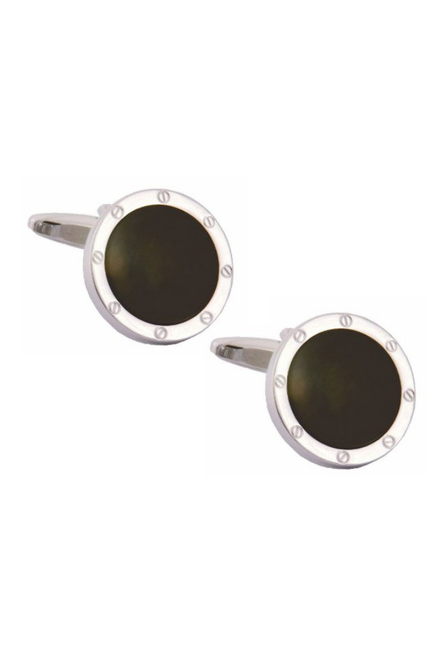 Gentlemen`s Corner Round Onyx Cufflinks, Accessories ...