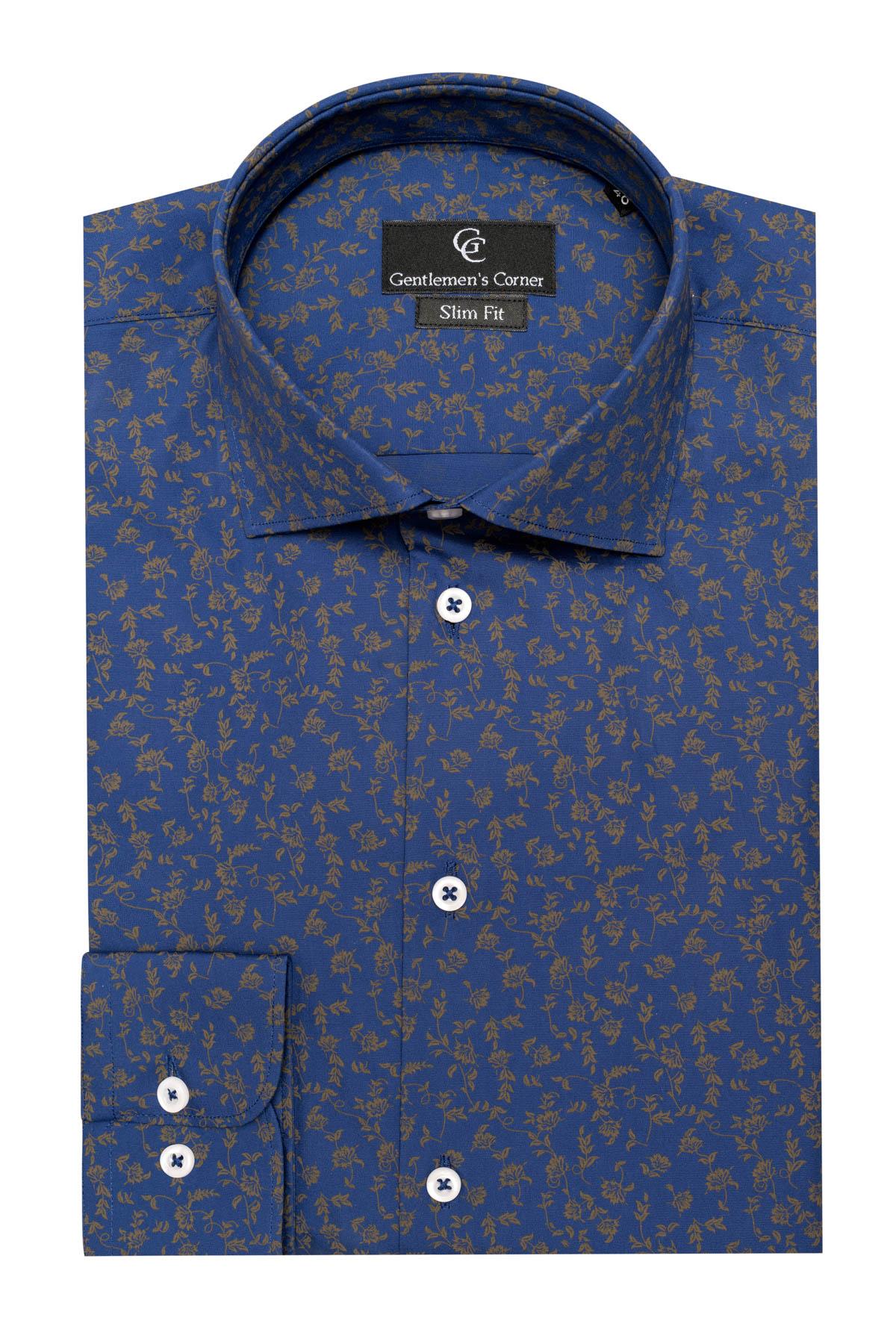 Camasa bleu cu carouri Daria Compact Classico
