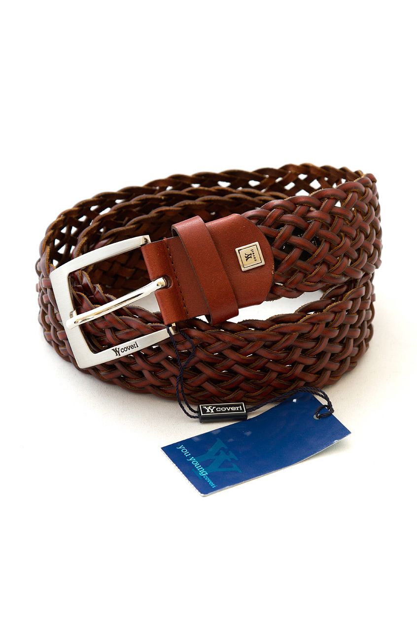 Brown braided leather belt accessories belts