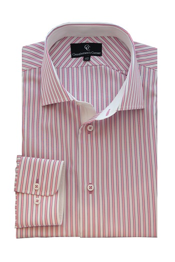 Lawrence Pink Stripe Shirt - Button Cuff