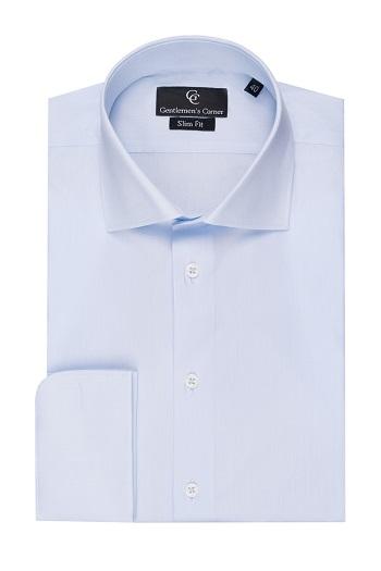 Johnny Light Blue Shirt - Double Cuff