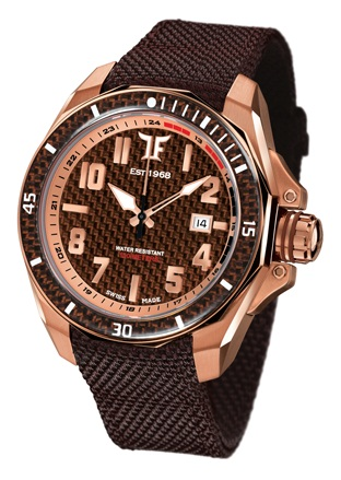 TF Est. Automatic Rose Gold Plated Watch - Chocolate