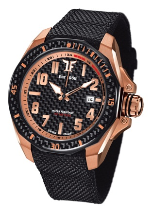 TF Est. Automatic Rose Gold Plated Watch - Black