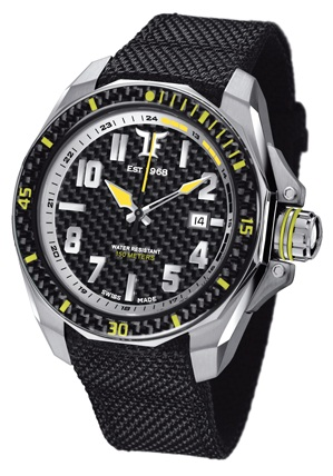 TF Est. Automatic Stainless Steel Watch - Black