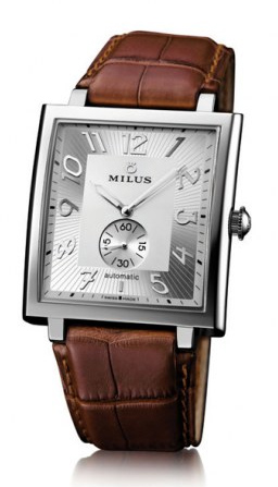 MILUS WATCH - HERIOS AUTOMATIC STEEL - BROWN