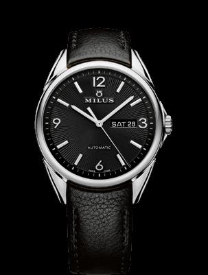 MILUS WATCH - TIRION CLASSIC STEEL - BLACK