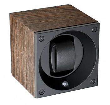 Swiss Kubik Single Watch Winder - Wenge Wood Mat