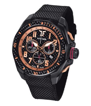 TF Est. Quartz Black PVD Watch - Rose Gold