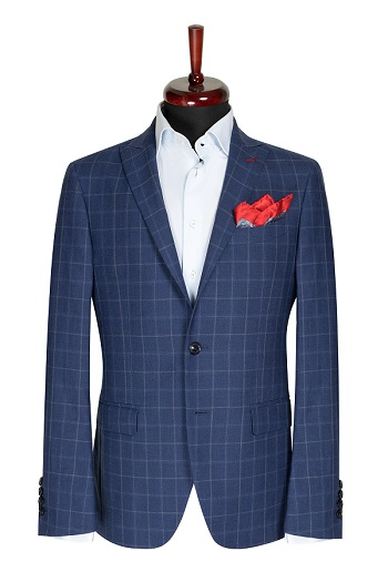 Gentlemen`s Corner Light Blue Slim Fit Jacket