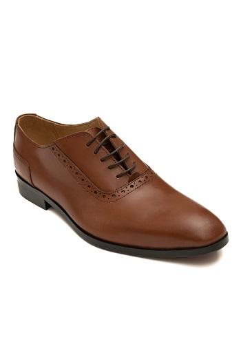 Gentlemen`s Corner Cognac Leather Shoes - Made-to-Order