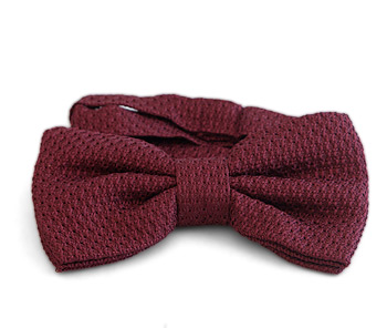 Gentlemen`s Corner Grenadine Silk Bow Tie - Bordeaux