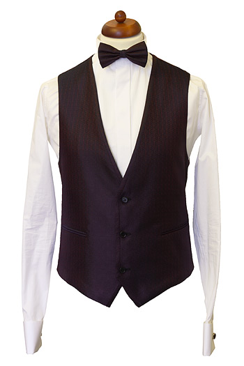 Gentlemen`s Corner Bordeaux Waistcoat - Made to Measure
