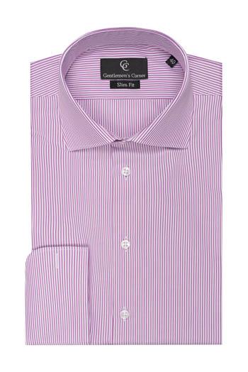 Brant Dark Pink Stripe Shirt - Double Cuff
