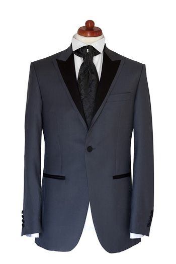 Gentlemen`s Corner Slim Fit Dinner Jacket - Lincoln Grey