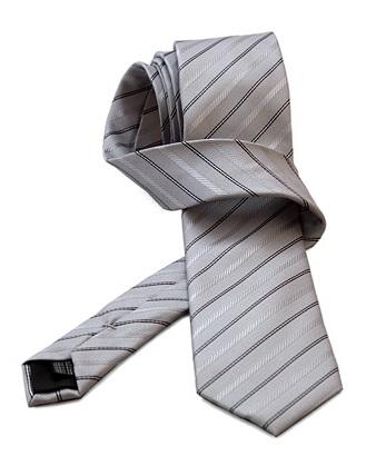 Gentlemen`s Corner Black Stripe Grey Silk Tie