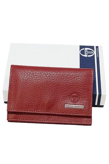 Sergio Tacchini Leather Business Card Holder