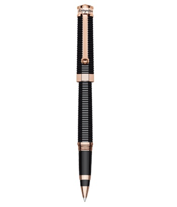 Montegrappa NeroUno Red Gold pl. Rollerball Pen - Black