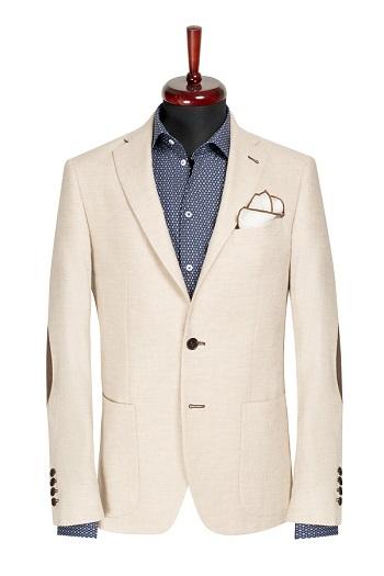 Gentlemen`s Corner Slim Fit Light Cream Jacket