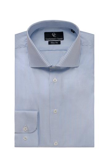 Light Blue & White Stripe Slim Fit Shirt