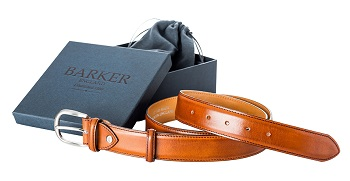 Barker Plain Belt - Rosewood Calf