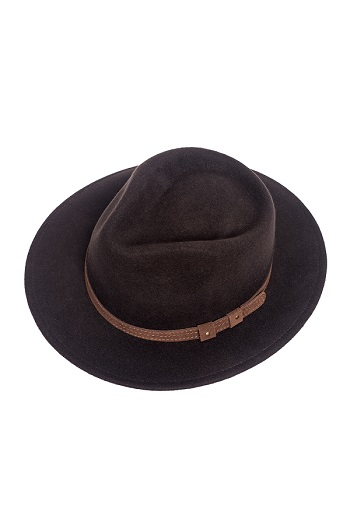 Balke Crushable Hat - Dark Brown